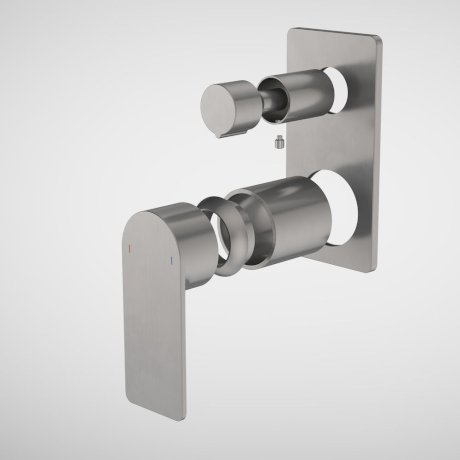 99662GM Urbane II - Bath_shower mixer with diverter Trim Kit - Rectangular Cover Plate - Gunmetal.jpg
