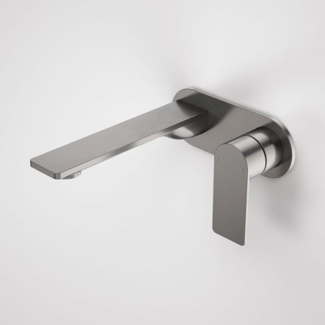 99631GM6A Urbane II - 180mm Wall basin_bath mixer - Rounded Cover Plate - Gunmetal - SALES KIT_A.jpg