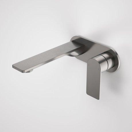 99631GM6A Urbane II - 180mm Wall basin_bath mixer - Rounded Cover Plate - Gunmetal - SALES KIT_A.jpg