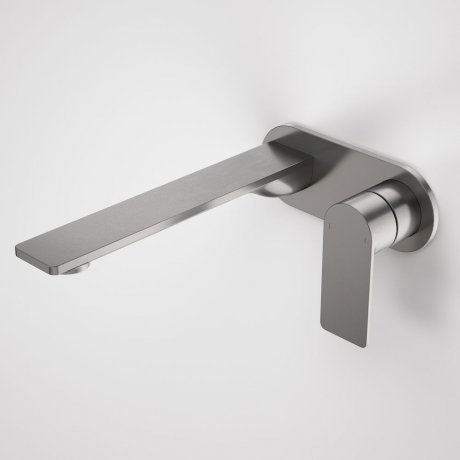 99641GM6A Urbane II - 220mm Wall basin_bath mixer - Rounded Cover Plate - Gunmetal - SALES KIT_A.jpg
