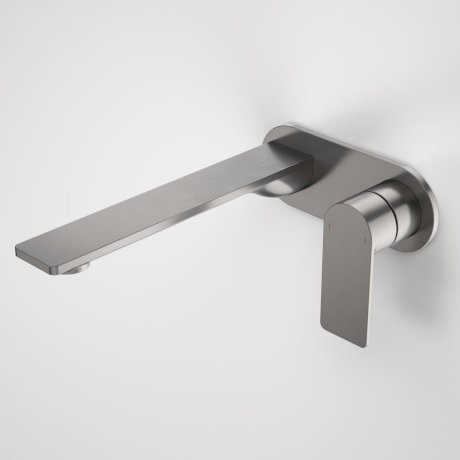 99641GM6A Urbane II - 220mm Wall basin_bath mixer - Rounded Cover Plate - Gunmetal - SALES KIT_A.jpg