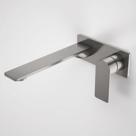 99642GM6A Urbane II - 220mm Wall basin_bath mixer - Rectangular Cover Plate - Gunmetal - SALES KIT_A.jpg
