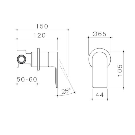99648C6A 99648B6A 99648BB6A 99648GM6A 99648BN6A - Urbane II - Bath shower mixer - Round Cover Plate - SALES KIT.jpg
