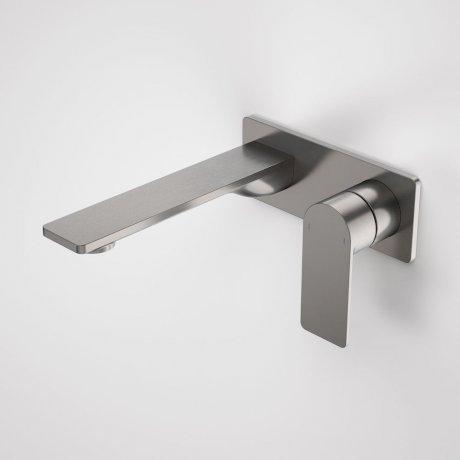 99632GM6A Urbane II 180mm Wall Basin Bath Mixer - Rectangular Cover Plate - Gunmetal 1.jpg