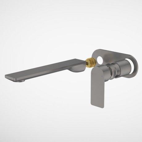 99645GM6A Urbane II - 220mm Wall basin_bath Trim Kit - Rounded Cover Plate - Gunmetal.jpg