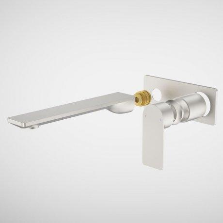 99646BN6A Urbane II - 220mm Wall basin_bath Trim Kit - Rectangular Cover Plate - Brushed Nickel.jpg