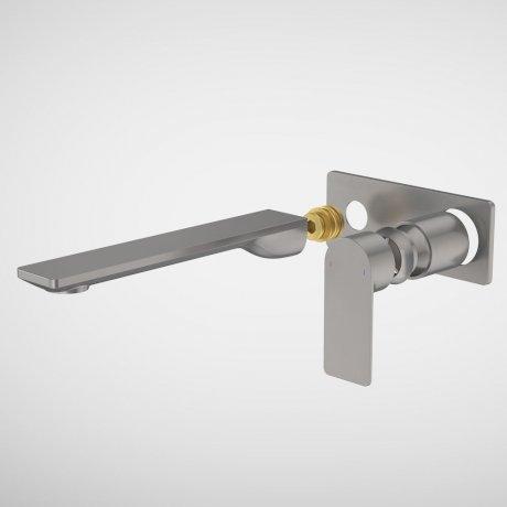 99646GM6A Urbane II - 220mm Wall basin_bath Trim Kit - Rectangular Cover Plate - Gunmetal.jpg