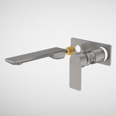 99638GM6A Urbane II - 180mm Wall basin_bath Trim Kit - Rectangular Cover Plate - Gunmetal.jpg