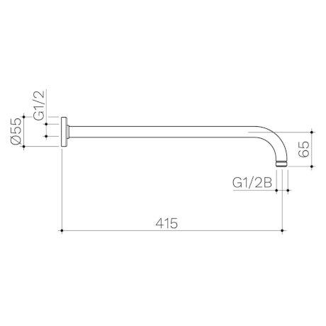 99641C 99641B 99641GM 99641BB 99641BN - Urbane II Right Angled Shower Arm 415mm_1.jpg