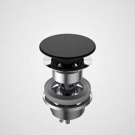 687330B Basin Dome Pop-Up Plug & Waste - Black.jpg