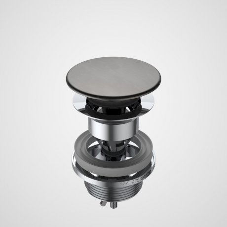 687330GM Basin Dome Pop-Up Plug & Waste - Gunmetal.jpg