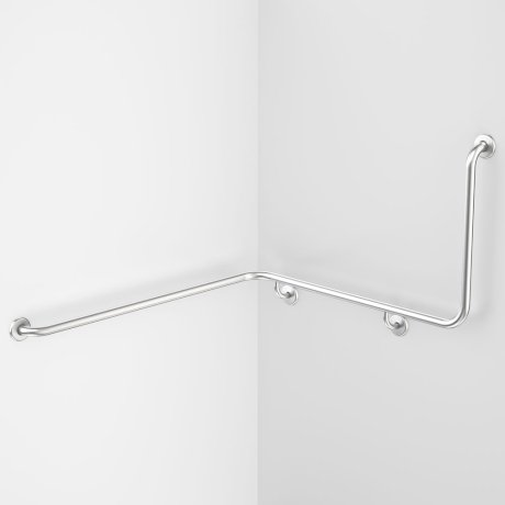 687468SS Care Support Grab Rail - 90 Degree Angled 1110x1030x600 Left Hand..jpg