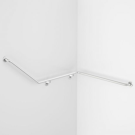 687469SS Care Support Grab Rail - 140 Degree Angled 1110x940x700 Right Hand..jpg