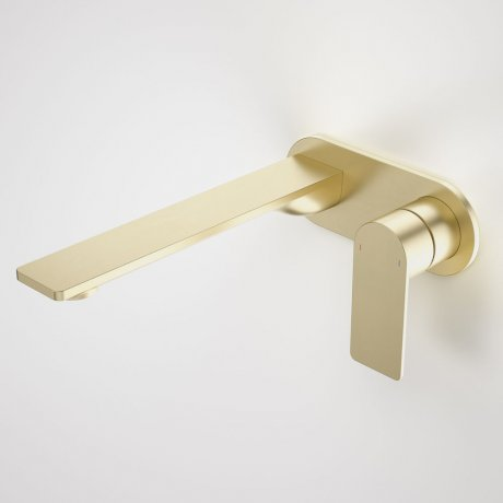 99641BB6A Urbane II - 220mm Wall basin_bath mixer - Rounded Cover Plate - Brass - SALES KIT_A_1.jpg