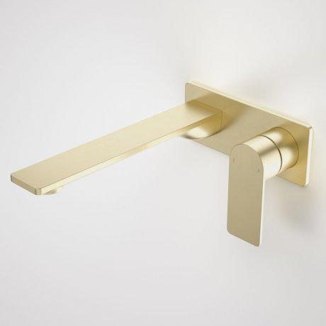 99642BB6A Urbane II - 220mm Wall basin_bath mixer - Rectangular Cover Plate - Brass - SALES KIT_A_1.jpg