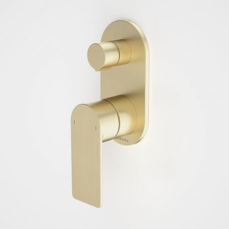 99656BB Urbane II - Bath_shower mixer with diverter - Rounded Cover Plate - Brass - SALES KIT_1.jpg