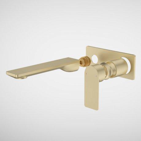99638BB6A Urbane II - 180mm Wall basin_bath Trim Kit - Rectangular Cover Plate - Brass_1.jpg