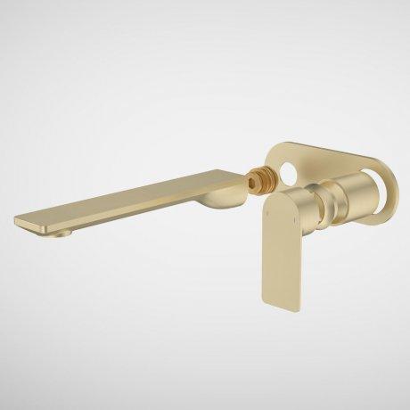 99645BB6A Urbane II - 220mm Wall basin_bath Trim Kit - Rounded Cover Plate - Brass_1.jpg