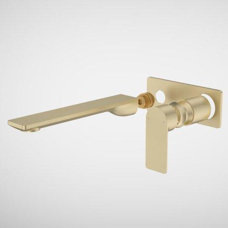 99646BB6A Urbane II - 220mm Wall basin_bath Trim Kit - Rectangular Cover Plate - Brass_1.jpg