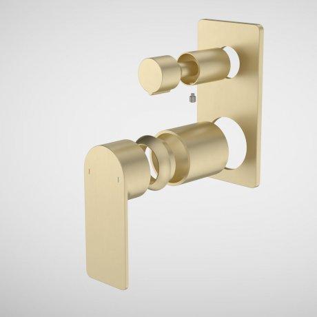 99662BB Urbane II - Bath_shower mixer with diverter Trim Kit - Rectangular Cover Plate - Brass_1.jpg