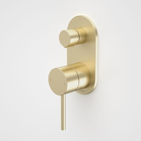 96366BB Liano II Bath Shower Mixer With Diverter - Round Cover Plate - Brushed Brass.jpg