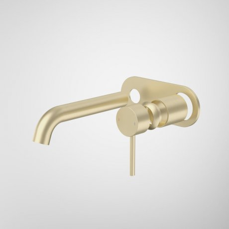 96349BB6A Liano II 175mm Wall Basin Bath Trim Kit - Round Cover Plate - Brushed Brass.jpg