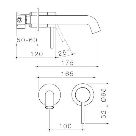 96344C6A-96344B6A-96344BB6A-96344GM6A-96344BN6A - Liano II 175mm Wall Basin Bath Mixer - 2 x Round Cover Plates.jpg
