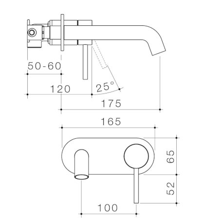 96345C6A-96345B6A-96345BB6A-96345GM6A-96345BN6A-Liano II 175mm Wall Basin Bath Mixer - Round Cover Plate.jpg