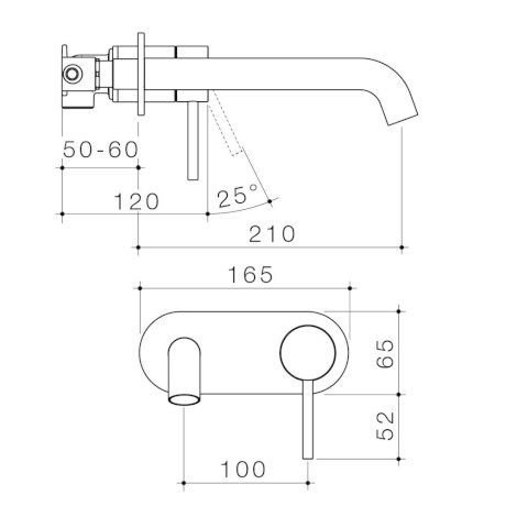 96353C6A-96353B6A-96353BB6A-96353GM6A - Liano II 210mm Wall Basin Bath Mixer - Round Cover Plate.jpg
