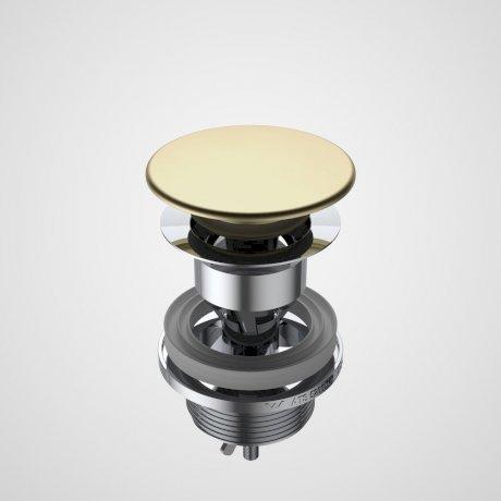 687330BB Basin Dome Pop-Up Plug & Waste - Brushed Brass.jpg