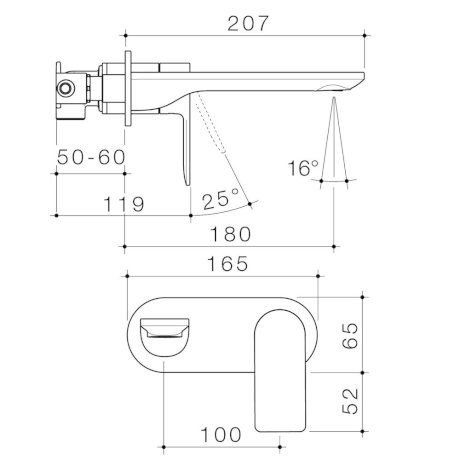 99631C6A-99631B6A-99631BB6A-99631GM6A-99631BN6A---Urbane-II---180mm-Wall-basin-bath-mixer---Rounded-Cover-Plate---SALES-KIT_2.jpg