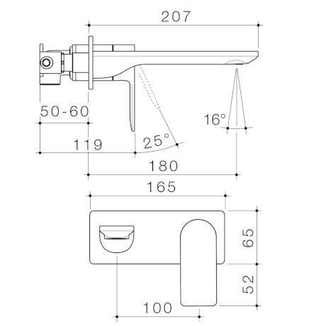 99632C6A-99632B6A-99632BB6A-99632GM6A-99632BN6A---Urbane-II---180mm-Wall-basin-bath-mixer---Rectangular-Cover-Plate---SALES-KIT_2.jpg