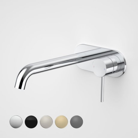96353C6A Liano II 210mm Wall Basin Bath Mixer - Round Cover Plate - Chrome - Swatches.jpg