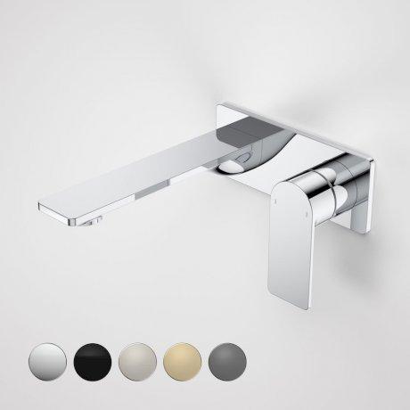 99632C6A Urbane II 180mm Wall Basin Bath Mixer - Rectangular Cover Plate - Chrome - Swatches.jpg