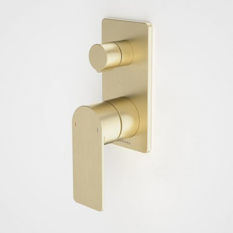 99657BB Urbane II - Bath_shower mixer with diverter - Rectangular Cover Plate - Brass - SALES KIT_1.jpg