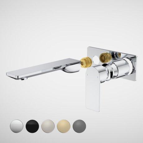 99638C6A Urbane II - 180mm Wall basin_bath Trim Kit - Rectangular Cover Plate - Chrome_swatches.jpg