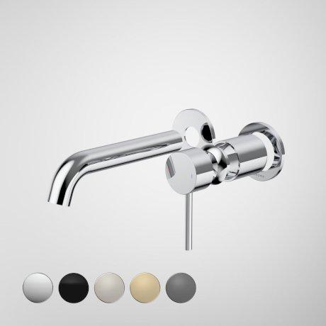 96348C6A Liano II 175mm Wall Basin Bath Trim Kit - 2 x Round Cover Plates - Chrome - Swatches.jpg