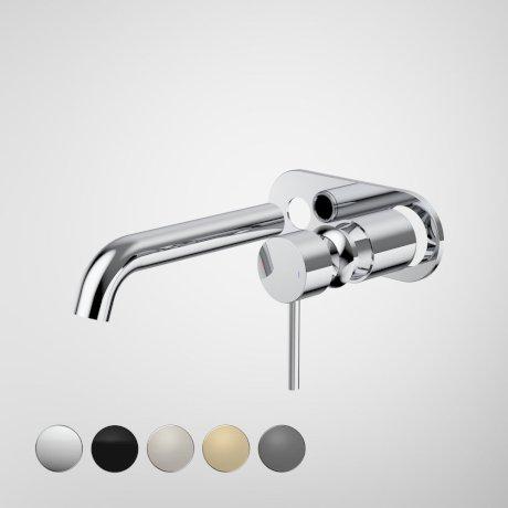 96349C6A Liano II 175mm Wall Basin Bath Trim Kit - Round Cover Plate - Chrome - Swatches.jpg