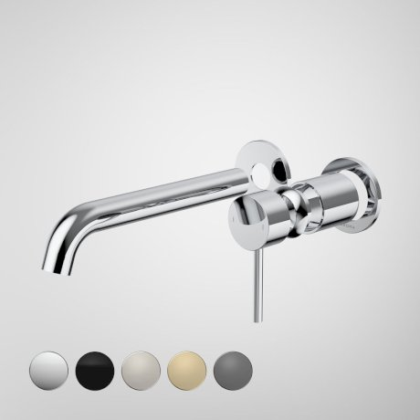 96356C6A Liano II 210mm Wall Basin Bath Trim Kit - 2 x Round Cover Plates - Chrome - Swatches.jpg