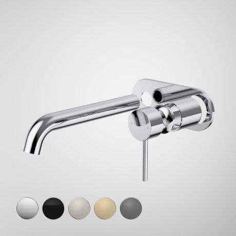 96357C6A Liano II  210mm Wall Basin Bath Trim Kit - Round Cover Plate - Chrome - Swatches.jpg