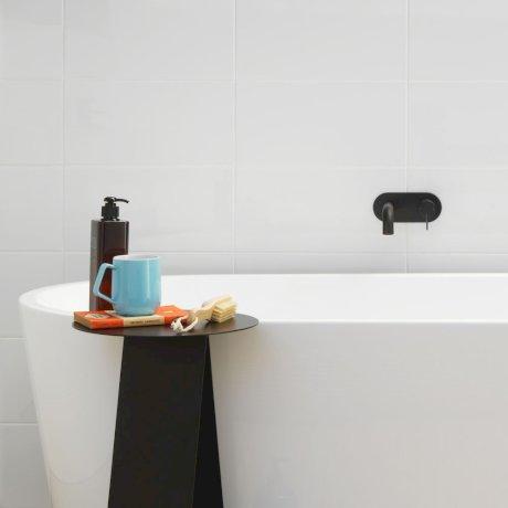 CLARK round blade wall basin bath mixer - black .jpg