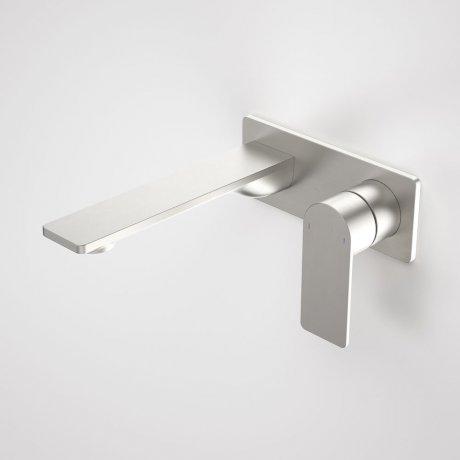 99632BN6A Urbane II 180mm Wall Basin Bath Mixer - Rectangular Cover Plate - Brushed Nickel 1.jpg