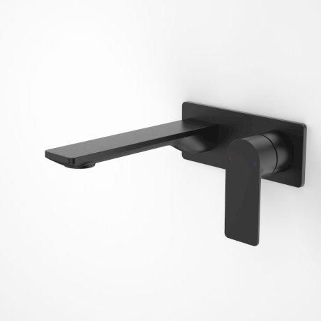 99632B6A Urbane II 180mm Wall Basin Bath Mixer - Rectangular Cover Plate - Matte Black 2.jpg