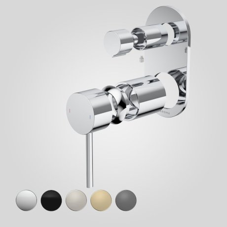 96369C Liano II Bath Shower Mixer With Diverter Trim Kit - Round Cover Plate - Chrome - Swatches.jpg