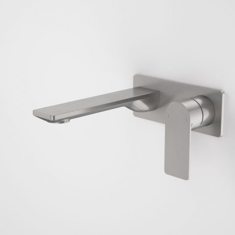 99632GM6A Urbane II 180mm Wall Basin Bath Mixer - Rectangular Cover Plate - Gunmetal 2.jpg