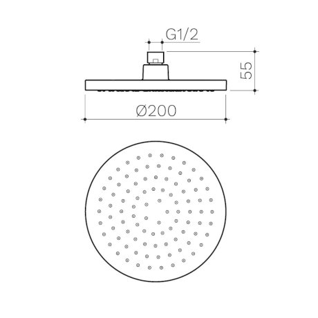 CL10076.C3A Clark Round II Overhead Shower 200mm_LD2.jpg