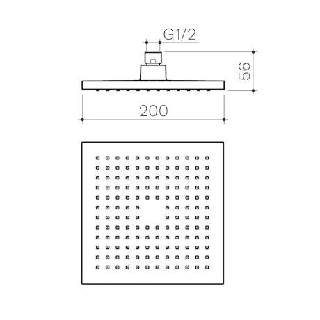 CL10077.C3A Clark Square II Overhead Shower 200mm_LD2.jpg