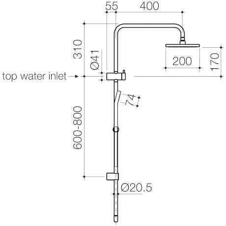 CL10074.C3A Clark Square II Rail Shower with Overhead_LD.jpg