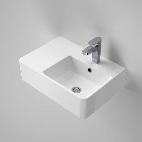 864215W Cube Extension Wall Basin - Left Hand Shelf - 1TH - SI.jpg