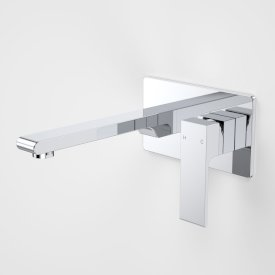 Aura Wall Basin/Bath Mixer Rectangle Back Plate